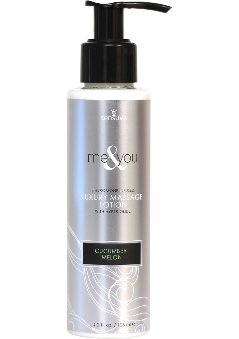 Me And You Pheromone Infused Luxury Massage Lotion Cucumber Melon 4.2 Ounce